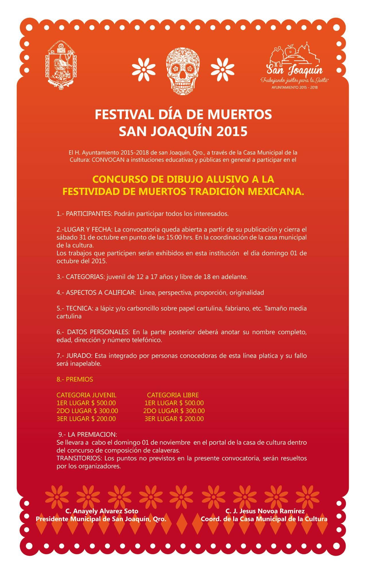 Festival de Muertos 2015 San Joaquín, Qro. 2015