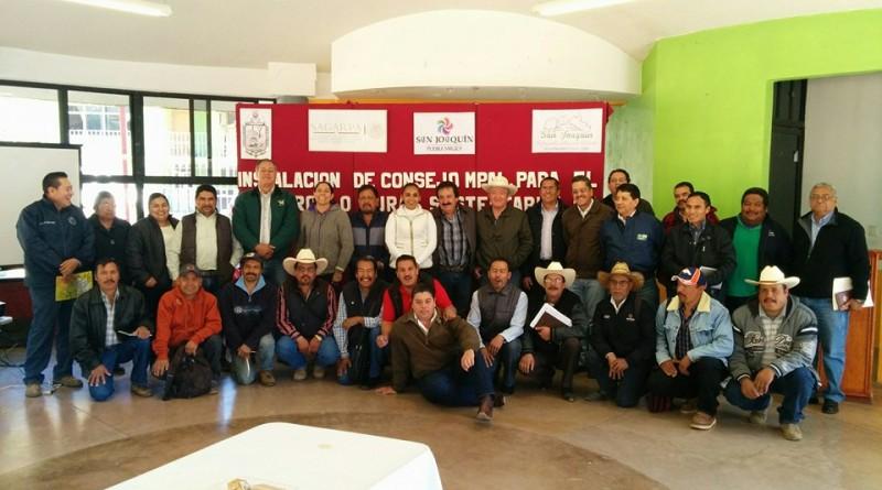 Instalación de Consejo Municipal para el Desarrollo Rural Sustentable de San Joaquín